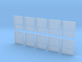 N Scale Overhead Door 10pc in Smooth Fine Detail Plastic
