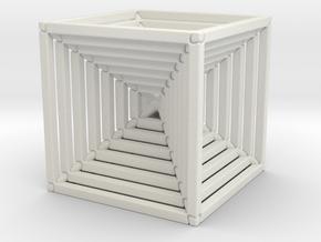 Balancing Cubes in White Natural Versatile Plastic