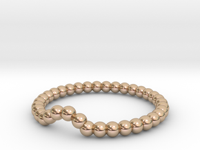 Bead Ball Band W-001 in 14k Rose Gold