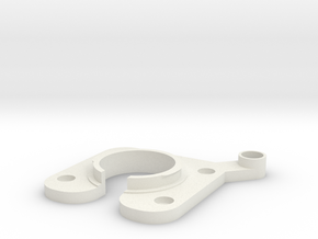 Pivotable base unit for iPhone 6 Plus holder in White Natural Versatile Plastic