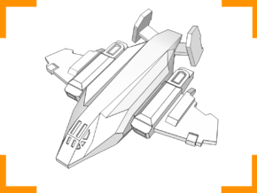 ''Vulture'' Assault Fighter 6mm in White Strong & Flexible