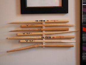 The Stick Clip v1.0- Broken Drum Sticks Become Art in White Strong & Flexible