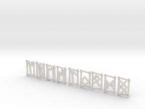 3rd Aett - Futhark Nordic Rune Stones - 3 of 4 in White Natural Versatile Plastic