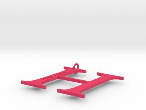 H in Pink Processed Versatile Plastic