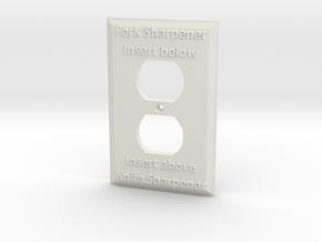 Sharpener Outlet in White Natural Versatile Plastic