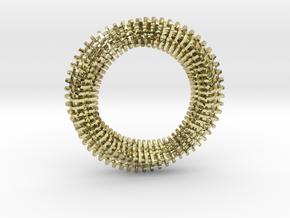 Mobius Ring Pendant v3 in 18k Gold