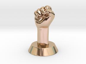 Revolution Fist in 14k Rose Gold