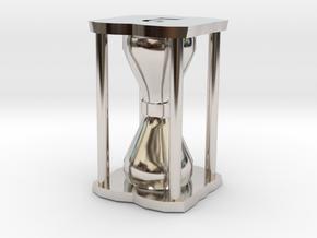 Number Hourglass Token in Platinum