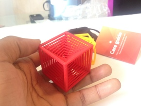 The Cube in Red Processed Versatile Plastic