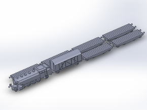 Medium Tank Transport Train 1/285 6mm in Frosted Ultra Detail