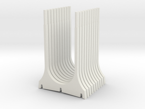 WUS Double Pylon in White Natural Versatile Plastic