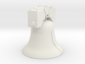 The Liberty Bell in White Natural Versatile Plastic