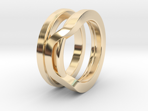 Balem's Ring1 - US-Size 7 (17.35 mm) in 14k Gold Plated Brass