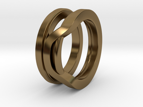 Balem's Ring1 - US-Size 7 1/2 (17.75 mm) in Polished Bronze