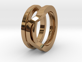 Balem's Ring1 - US-Size 4 (14.86 mm) in Polished Brass