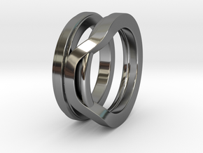 Balem's Ring1 - US-Size 4 (14.86 mm) in Fine Detail Polished Silver