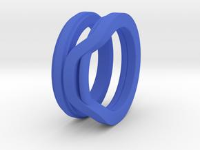 Balem's Ring1 - US-Size 4 (14.86 mm) in Blue Processed Versatile Plastic