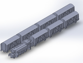 Mixed Freight Train Set 2 1/285 6mm in Smooth Fine Detail Plastic