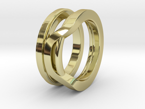 Balem's Ring1 - US-Size 9 1/2 (19.41 mm) in 18k Gold Plated Brass