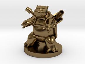 Blastoise Pokemon in Polished Bronze