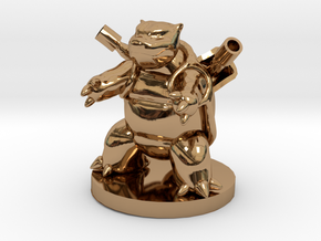 Blastoise Pokemon in Polished Brass