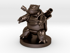 Blastoise Pokemon in Polished Bronze Steel