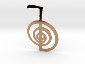 Reiki Power Symbol in Polished Brass