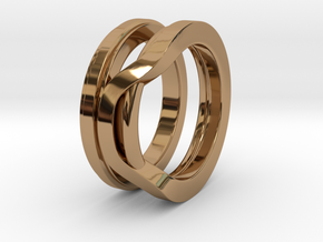 Balem's Ring1 - US-Size 8 1/2 (18.53 mm) in Polished Brass