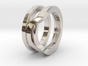 Balem's Ring1 - US-Size 8 1/2 (18.53 mm) in Rhodium Plated Brass
