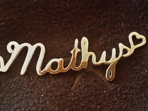 Mathys Pendant in Fine Detail Polished Silver