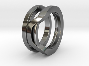 Balem's Ring1 - US-Size 9 (18.89 mm) in Fine Detail Polished Silver