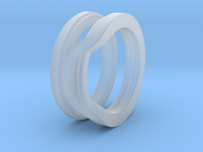Balem's Ring1 - US-Size 9 (18.89 mm) in Smoothest Fine Detail Plastic