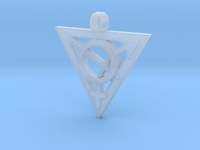 Transgender Warrior Pendant (large) in Smooth Fine Detail Plastic
