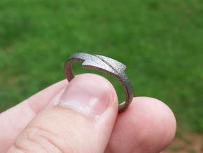 Arrow Ring in Polished Nickel Steel