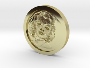 Marilyn Monroe Coin in 18k Gold