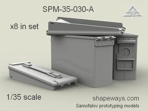 1/35 SPM-35-030-A 30.cal ammobox, x8 in set in Frosted Extreme Detail