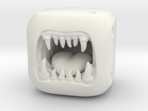 Monster Dice - Custom Dice in White Natural Versatile Plastic