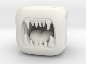 Monster Dice - Custom Dice in White Natural Versatile Plastic