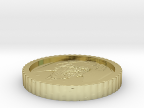 Heisenberg coin from Breaking bad in 18k Gold Plated Brass