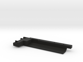 Rail With Stock Left Side Stl in Black Strong & Flexible