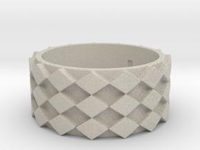 Futuristic Diamond Ring Size 9 in Natural Sandstone