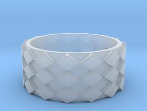 Futuristic Diamond Ring Size 10 in Smooth Fine Detail Plastic