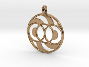 LIFE SPIRAL ONE in Polished Brass