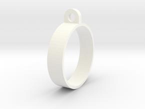 E-cig Mod Ring 25mm in White Processed Versatile Plastic