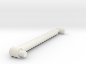 Retracted RAM in White Natural Versatile Plastic