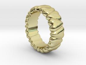 Ring Heart To Heart 22 - Italian Size 22 in 18k Gold