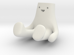 Happi Sit Ground 4cm in White Natural Versatile Plastic