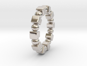 Claudette - Ring in Rhodium Plated Brass: 9 / 59
