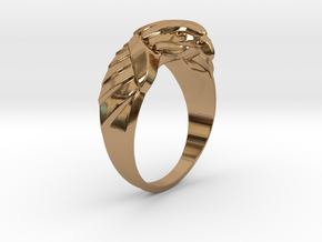 Eagle Ring 17mm in Polished Brass