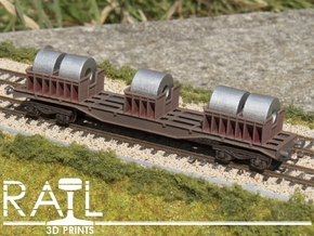 BLA Steel Coil Wagon in Smooth Fine Detail Plastic